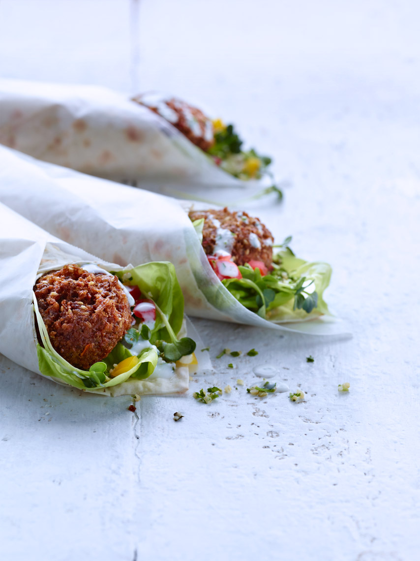Bay Area Food Photographer | James Ellerker | Falafel Wrap