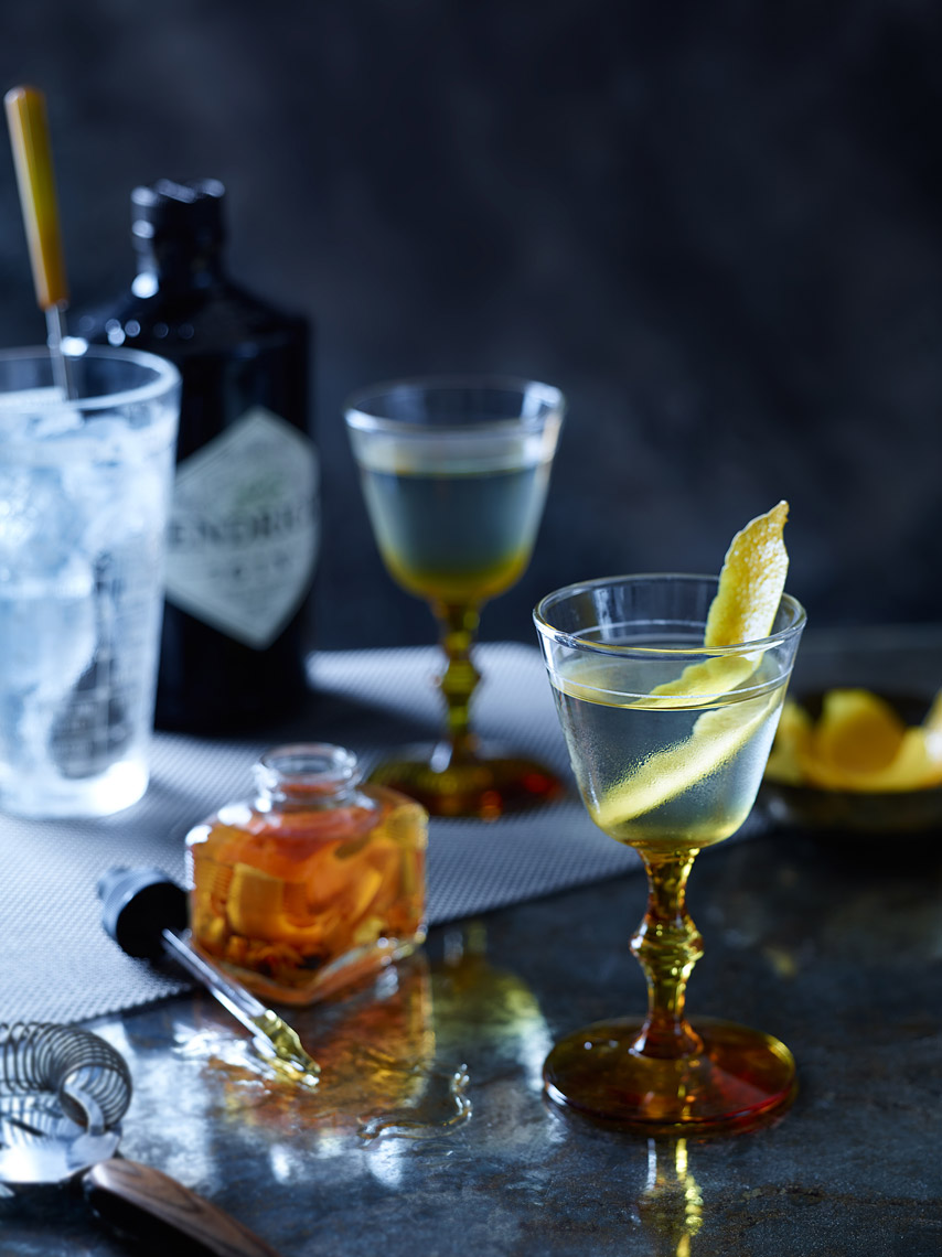 San Francisco Beverage Photographer | James Ellerker | Hendricks Gin Martini Cocktail and Bitters