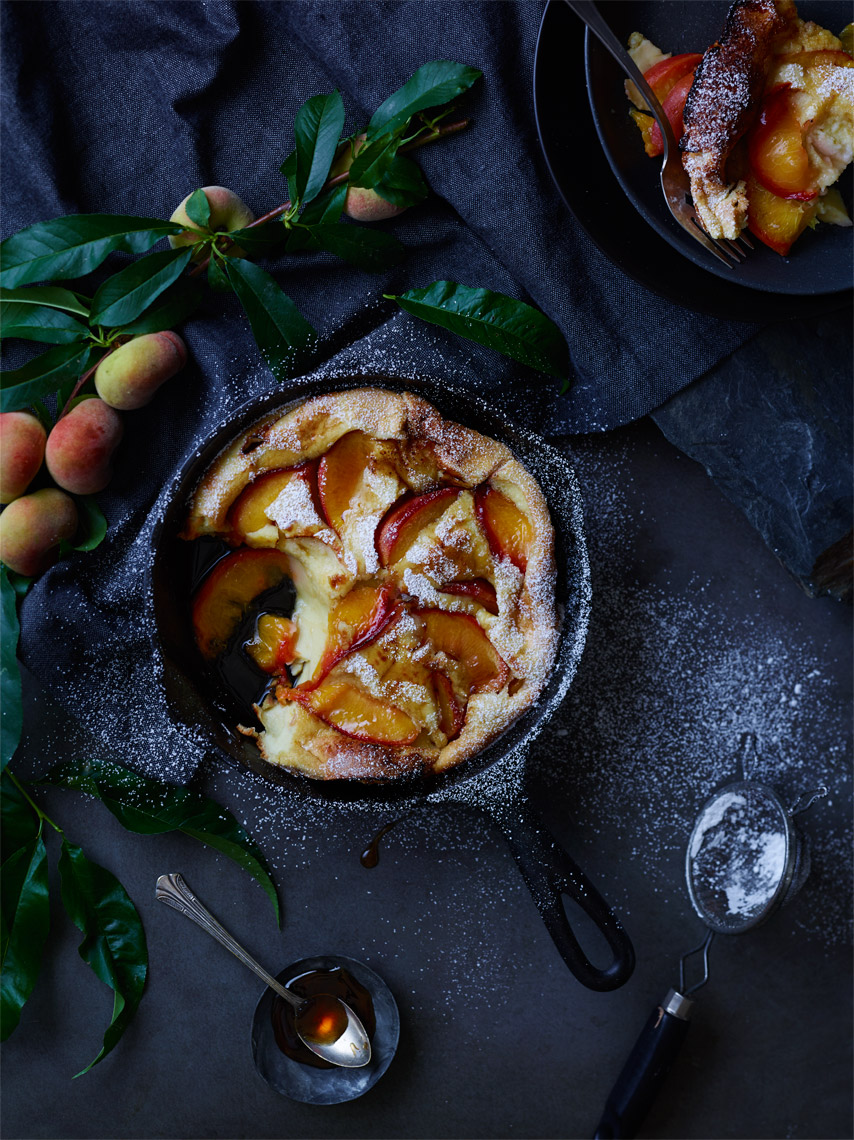 San Francisco Bay Area Food Photography | James Ellerker | Peach Cobbler