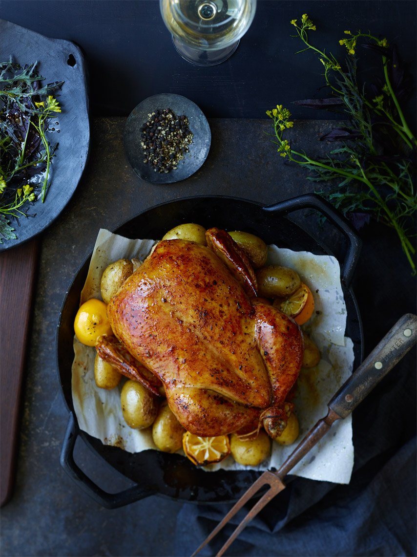 Oakland Commercial Food Photographer | James Ellerker | Roast Chicken Dinner